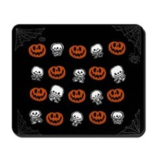 Little Skeletons+Pumpkins Mousepad