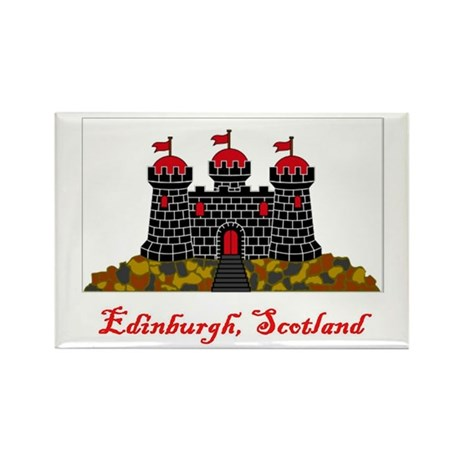 Edinburgh Scotland Flag Rectangle Magnet