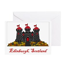 Edinburgh Scotland Flag Greeting Cards (Pk of 10)