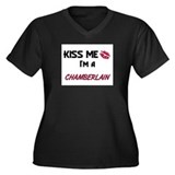 Kiss Me I'm a CHAMBERLAIN Women's Plus Size V-Neck