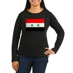 Syria Women's Long Sleeve Dark T-Shirt