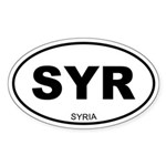 Syria Oval Sticker