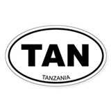 Tanzania Oval Decal