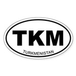 Turkmenistan Oval Sticker
