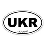 Ukraine Oval Sticker