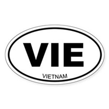 Vietnam Oval Decal