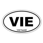 Vietnam Oval Sticker