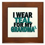 I Wear Teal For My Grandma 5 Framed Tile