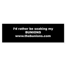 Our Bunion Bumper Car Sticker