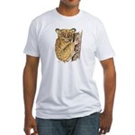 Tarsier Rain Forest (Front) Fitted T-Shirt