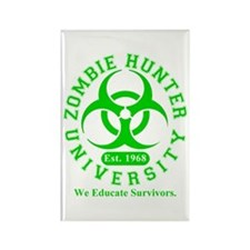 A Zombie Hunter University Rectangle Magnet