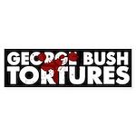 George Bush Tortures bumper sticker