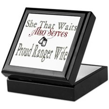 proud ranger wife Keepsake Box