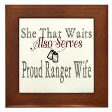 proud ranger wife Framed Tile