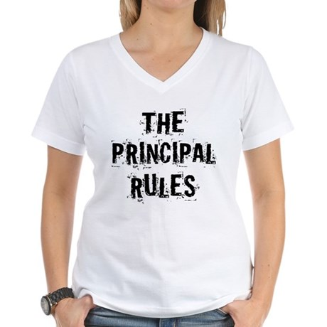 Funny Principal Women's V-Neck T-Shirt
