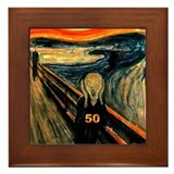 Scream 50th Framed Tile