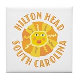 Hilton Head Sun -  Tile Coaster