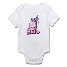 Pink Hippo Infant Creeper