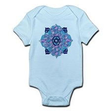 Blue Hanukkah Mandela Infant Bodysuit