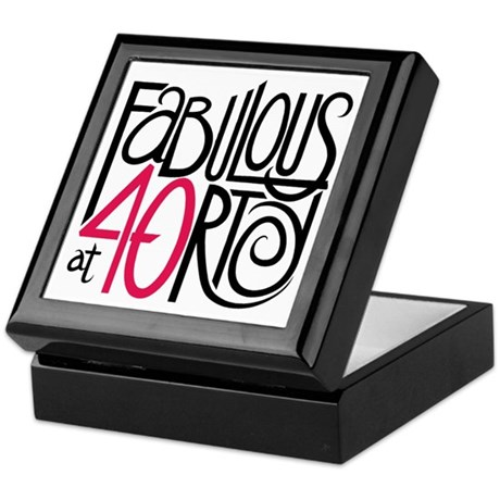 Fabulous at 40rty! Keepsake Box