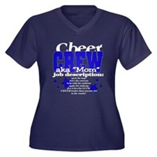 Barb's Cheer Crew Women's Plus Size V-Neck Dark T-