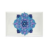Blue Hanukkah Mandela Rectangle Magnet