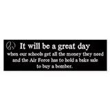 Great Day - Bake Sale Bumper Car Sticker