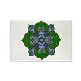 Green Hanukkah Mandela Rectangle Magnet (100 pack)