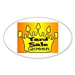 Yard Sale Queen Oval Sticker