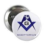 Masonic Sagittarius Sign Button