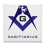 Masonic Sagittarius Sign Tile Coaster