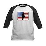 American Saxaphone Kids Baseball Jersey