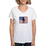 American Saxaphone Women's V-Neck T-Shirt