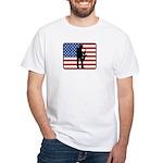 American Saxaphone White T-Shirt