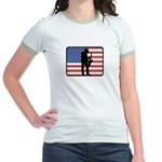 American Saxaphone Jr. Ringer T-Shirt