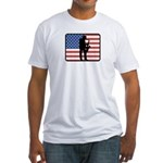 American Saxaphone Fitted T-Shirt