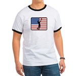 American Mens Volleyball Ringer T