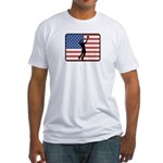 American Mens Volleyball Fitted T-Shirt