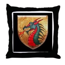 Dragon Shield Throw Pillow