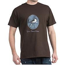 Chickadee Oval Personalize T-Shirt
