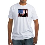 American Computer Geek Fitted T-Shirt