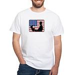 American Computer Geek White T-Shirt