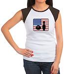 American Bowling Women's Cap Sleeve T-Shirt