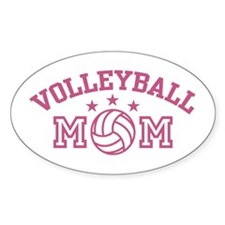 Volleyball Mom Oval Decal
