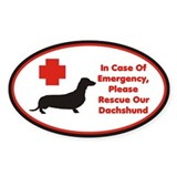 Dachshund Emergency Alert Decal