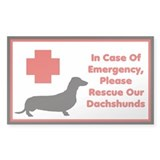 Dachshund Emergency Sticker/Decal