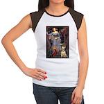 Ophelia / Bull Ter Women's Cap Sleeve T-Shirt