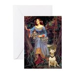 Ophelia / Bull Ter Greeting Cards (Pk of 10)