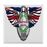 British Iron Motorcycle Tile Coaster