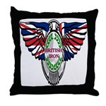 British Iron Motorcycle Throw Pillow